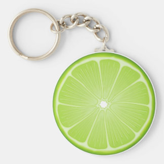 Luscious Lime Basic Round Button Keychain