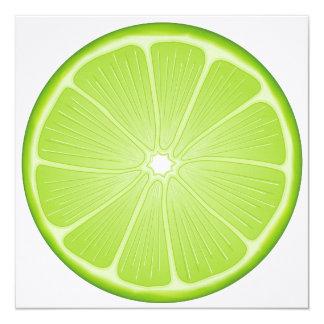 Luscious Lime 5.25x5.25 Square Paper Invitation Card