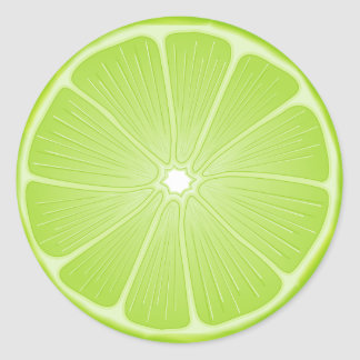 Luscious Lime Classic Round Sticker