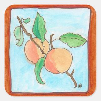 Luscious peach sticker