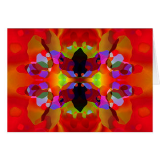 Luscious Red & Multicolored Kaleidoscopic Beauty Card