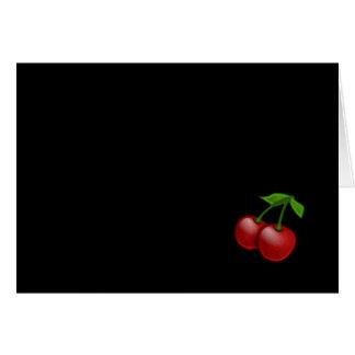 Luscious Retro Cherries Greeting Card