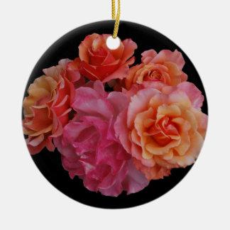 Luscious roses ceramic ornament