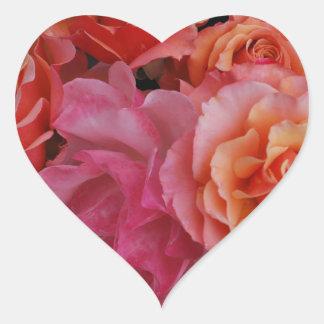 Luscious roses heart sticker
