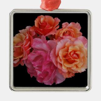 Luscious roses metal ornament
