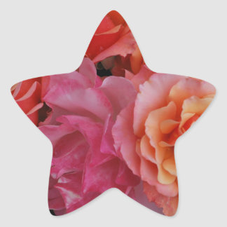 Luscious roses star sticker