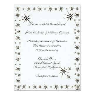 Luscious Stars Wedding Invitation