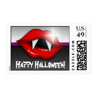 Luscious Vampire Lips Halloween Postage Stamps