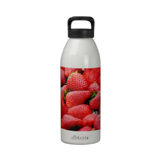 Luscious Whole Strawberries Drinking Bottle