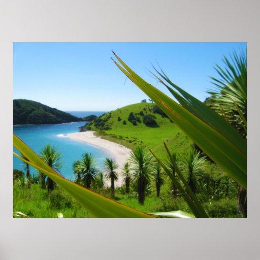 Lush Beach Scene Poster