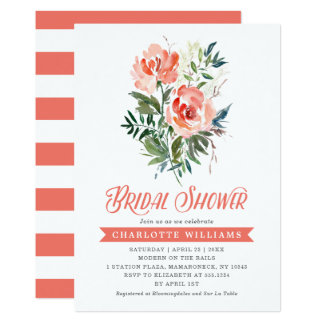 Lush Blooms Bridal Shower Card