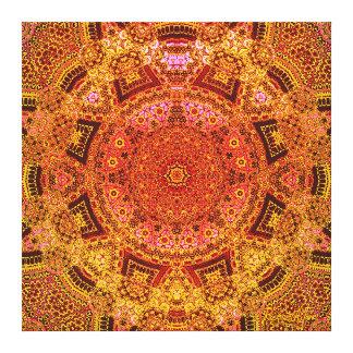 Lush-Blush Mandala Canvas Print