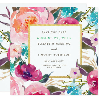 Lush Bouquet Wedding Save the Date Card