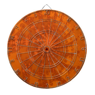 Lush Brown and Copper Tones Fractal Design Dartboards