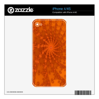 Lush Brown and Copper Tones Fractal Design iPhone 4 Skin