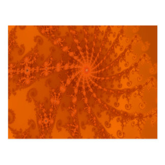 Lush Brown and Copper Tones Fractal Design Postcard