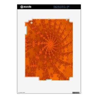 Lush Brown and Copper Tones Fractal Design Skins For iPad 2