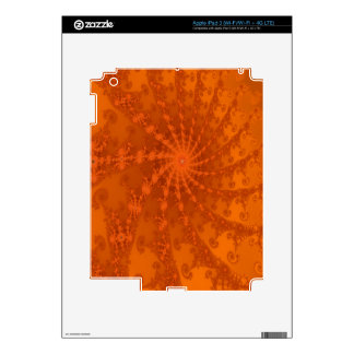 Lush Brown and Copper Tones Fractal Design Skins For iPad 3