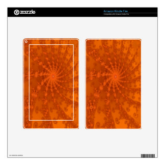 Lush Brown and Copper Tones Fractal Design Skins For Kindle Fire