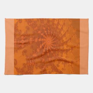 Lush Brown and Copper Tones Fractal Design Towels