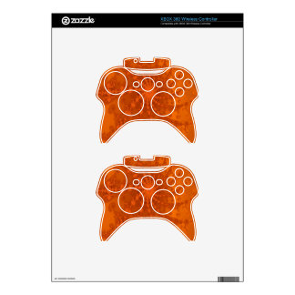 Lush Brown and Copper Tones Fractal Design Xbox 360 Controller Decal
