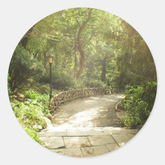 Lush Central Park Landscape, New York City Classic Round Sticker