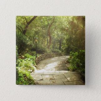 Lush Central Park Landscape, New York City Pinback Button