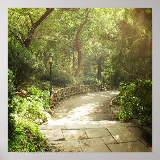 Lush Central Park Landscape, NYC, Medium Poster