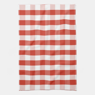 Superb Lush Dahlia Red U0026amp; White Gingham Check Plaid Kitchen Towel