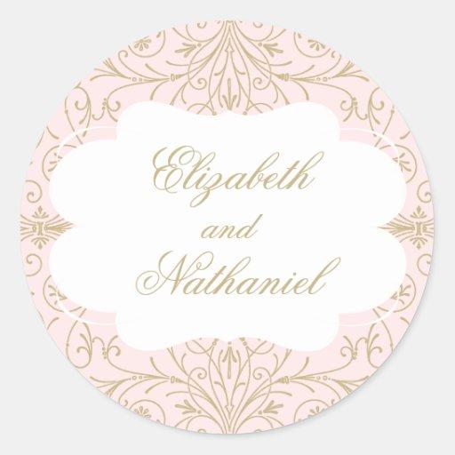 lush flourish wedding sticker blush gold zazzle