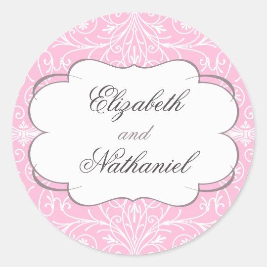 Lush Flourish Wedding Sticker in Pink