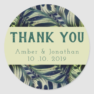 Lush foliage thank you sticker
