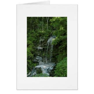 Lush Forest and Waterfall Card