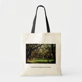 Lush forest, Portugal from the Forest Budget Tote Bag