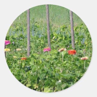 Lush Garden Classic Round Sticker