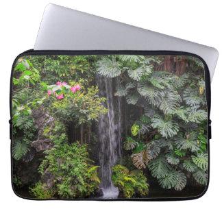Lush Garden Waterfall, China Computer Sleeve