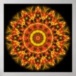 Lush Glow  kaleidoscope Print