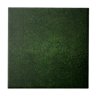 Lush Grass Lawn Ceramic Tile