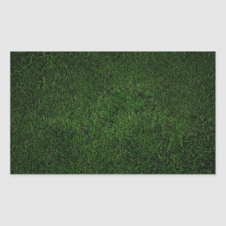 Lush Grass Lawn Rectangular Sticker