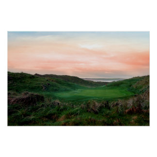 lush green Ballybunion links golf course Poster