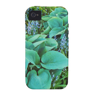 Lush green hosta and fern plant garden Case-Mate iPhone 4 cases
