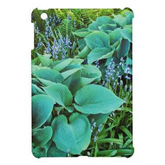 Lush green hosta and fern plant garden iPad mini case