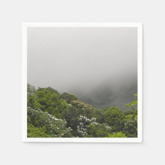 Lush Green Mountains Tropical Rainforest Paper Napkin