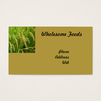 Lush Green Rice Field Ready for Harvest Business Card