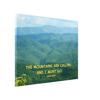 Lush Green Smoky Mtns /Mtns Calling! Canvas Print