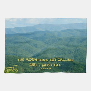 Lush Green Smoky Mtns /Mtns Calling! Hand Towel