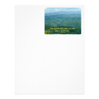Lush Green Smoky Mtns /Mtns Calling! Letterhead