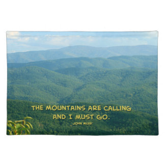 Lush Green Smoky Mtns /Mtns Calling! Cloth Place Mat