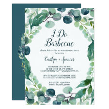 Lush Greenery and Eucalyptus I Do Barbecue Invitation
