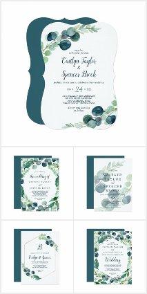 Lush Greenery and Eucalyptus Wedding Collection